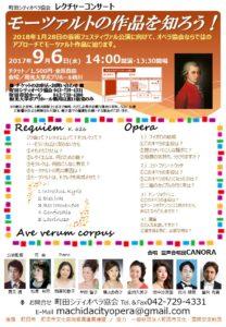 町田シティオペラ協会 2017年9月6日 レクチャーコンサート